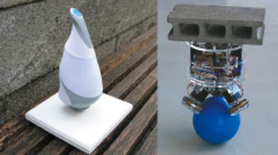 Роботы на шаре: а) Rezero компании EPFL; б) BallIP университета Tohoku Gakuin