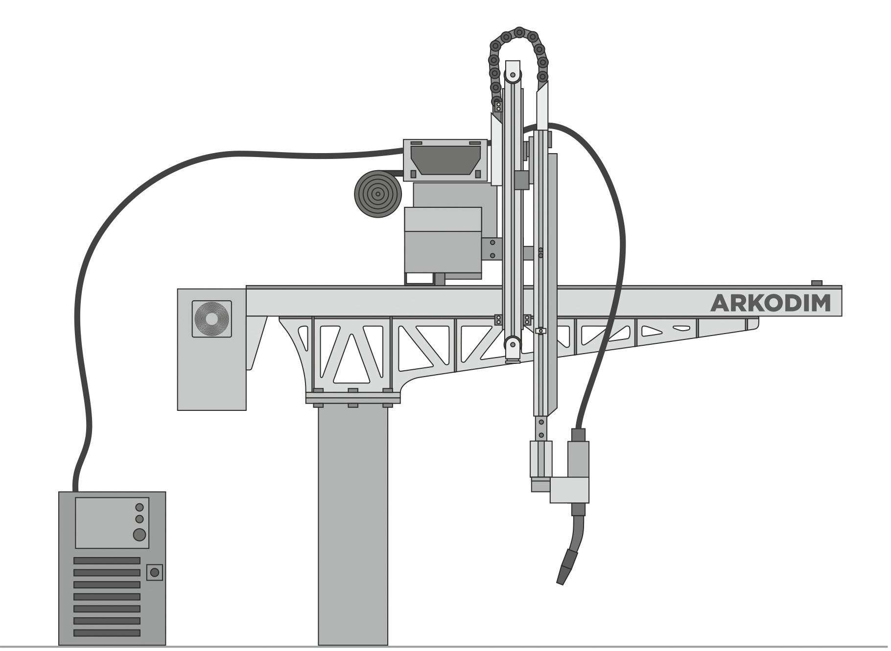 Рис. 4. Робот ARKODIM для сварки