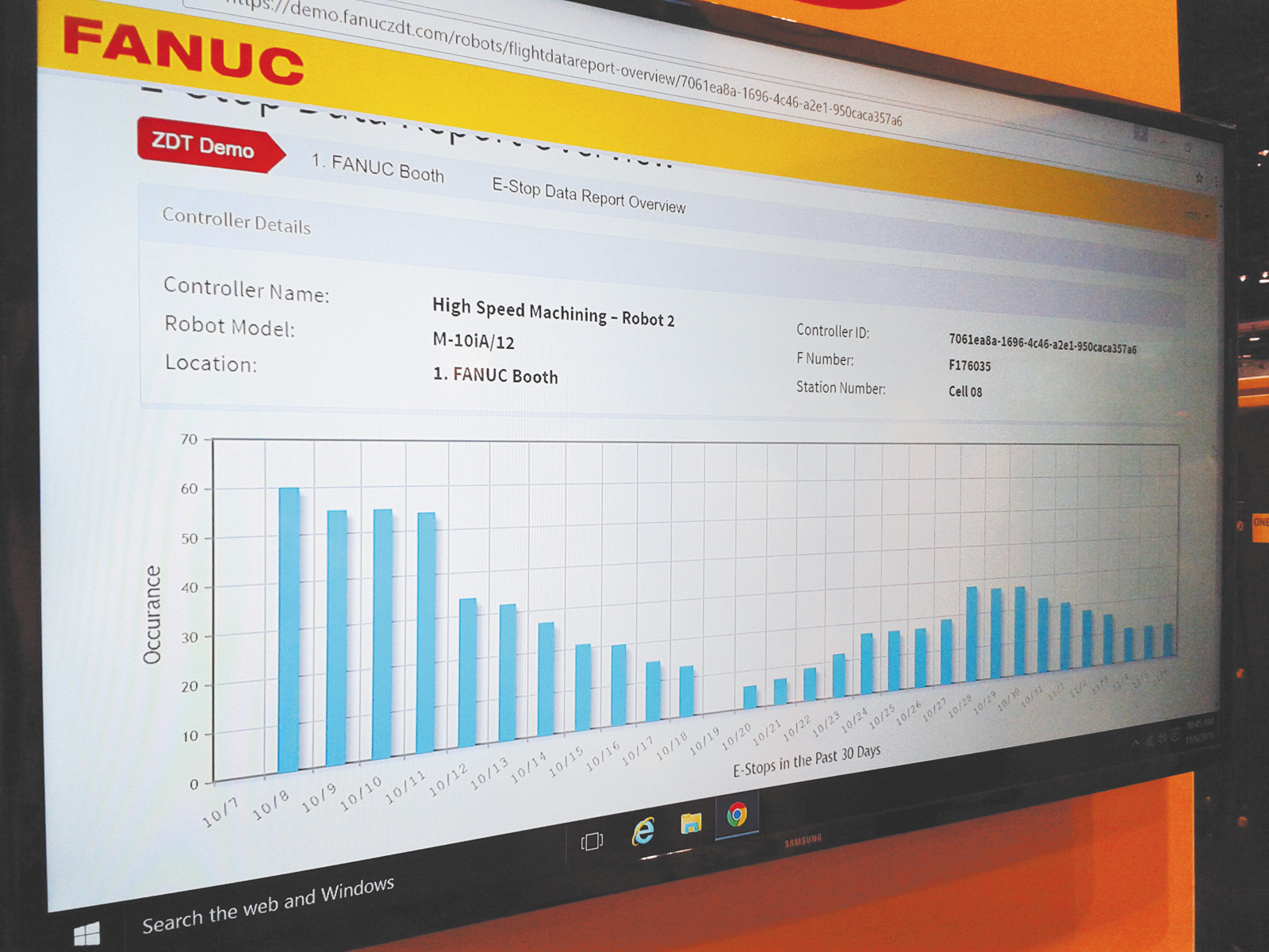 Программное приложение Zero Down Time компании Fanuc