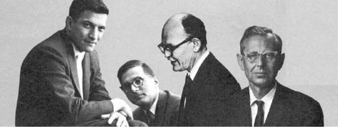 Слева направо: Нойс, Эрни, Килби и Леговец