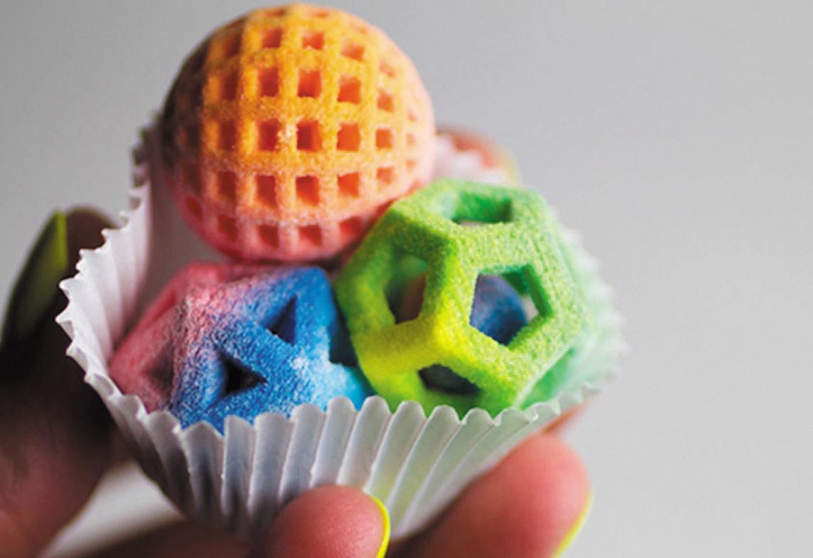 Карамельная фигурка, напечатанная на 3D-принтере