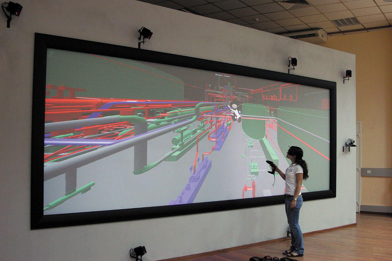 Рис. 4. Система виртуальной реальности VE CADWall для АО «Росатом»