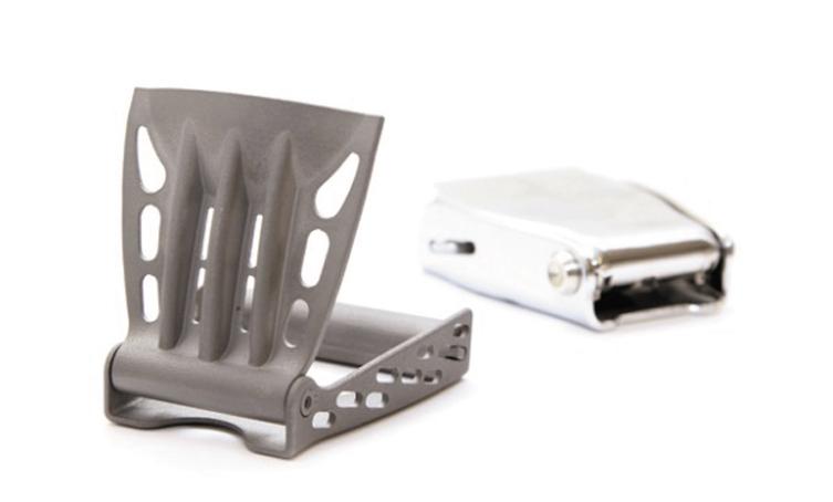 Трехмерная печатная титановая пряжка ремня безопасности