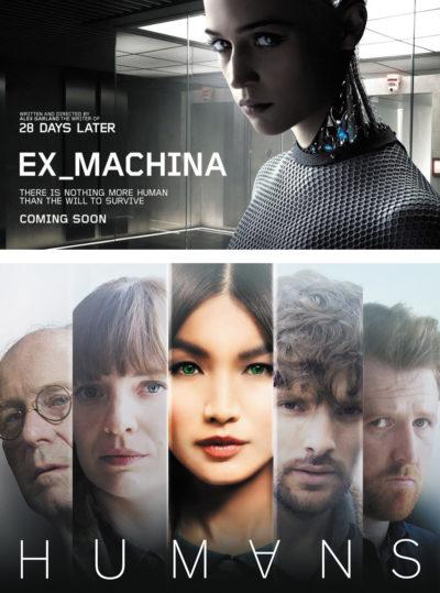 Кадры из трейлеров фильмов «Ex Machine» и «Humans»
