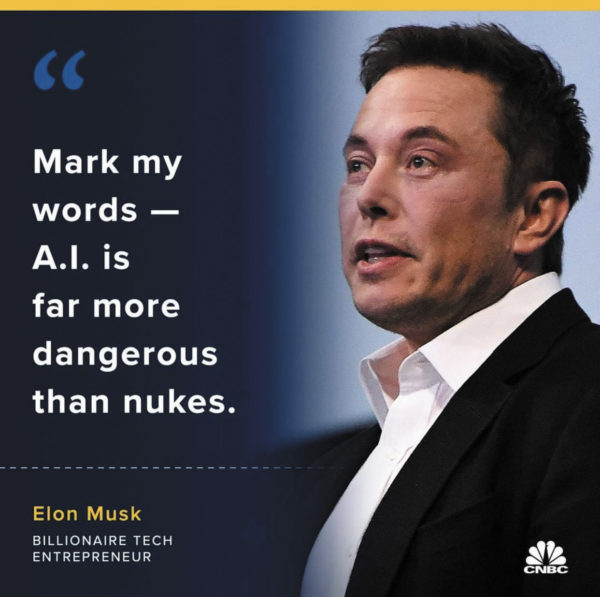 И. Маск: «Помяните мое слово, ИИ — гораздо опаснее, чем ядерное оружие»