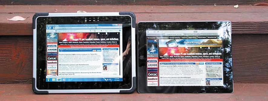 Экраны M970D и iPad