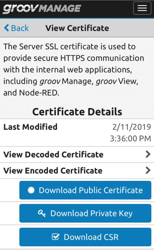 Рекомендуется, чтобы контроллеры поддерживали стандартные сертификаты безопасности, как банковские сайты и сайты электронной коммерции