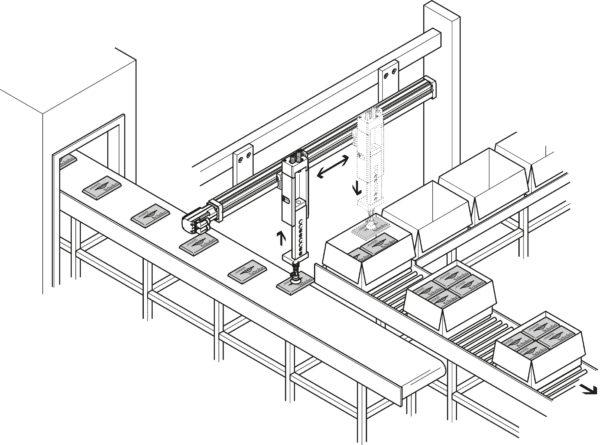 Система укладки на базе портального Y-Z-манипулятора
