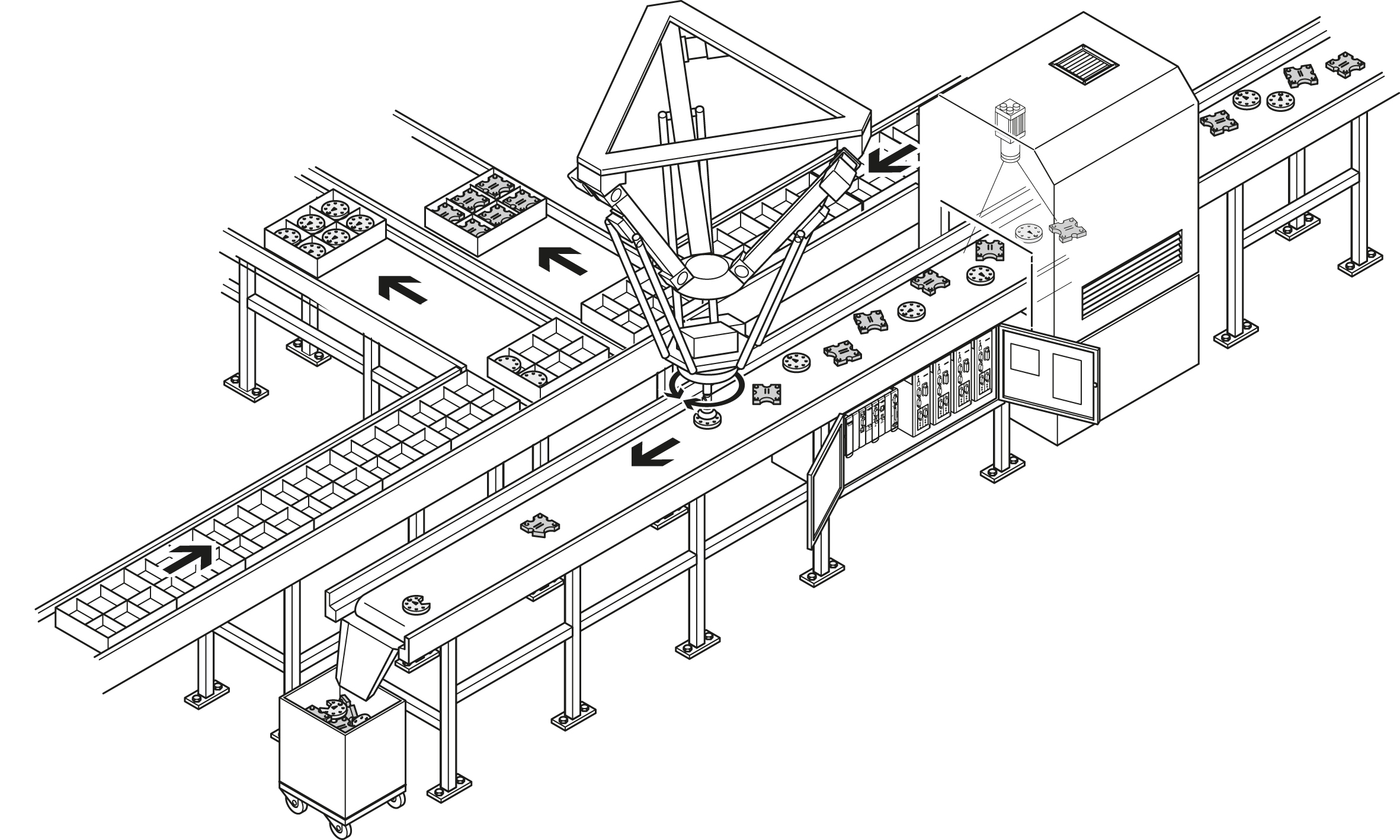 Система укладки на базе манипулятора-Трипода