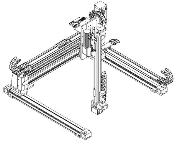 Портальный трехкоординатный манипулятор X-Y-Z