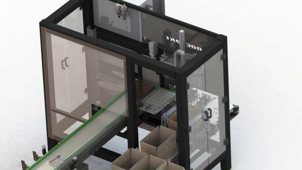 Модель манипулятора — укладчика печенья в коробку