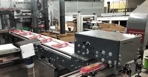 Линия групповой упаковки печенья