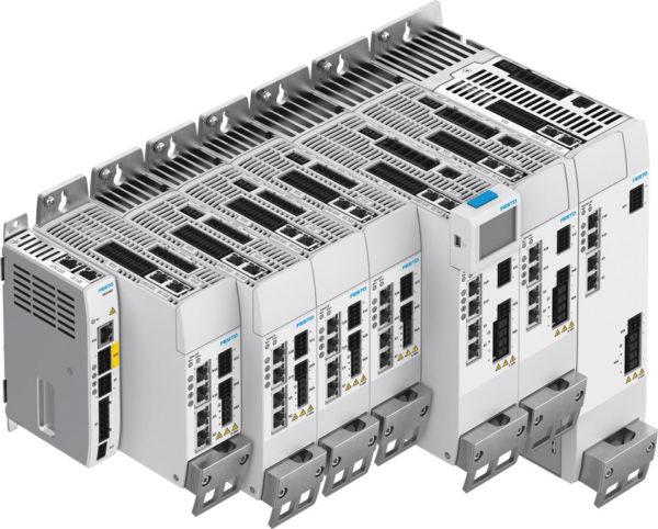 Линейка типоразмеров сетевых контроллеров двигателей CMMT-AS/S
