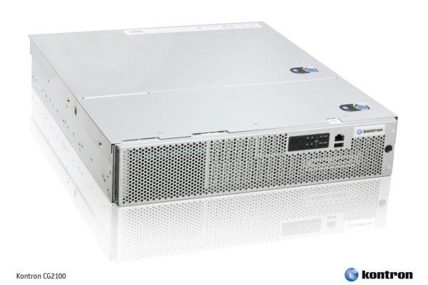 Так выглядит высокопроизводительный высоконадежный стоечный компьютер Kontron CRMS CG2100 на базе двух шестиядерных процессоров Intel Xeon 5600, поддерживающий резервирование жестких дисков, блоков питания и вентиляторов и допускающий установку до 96 Гбайт памяти типа DDR3