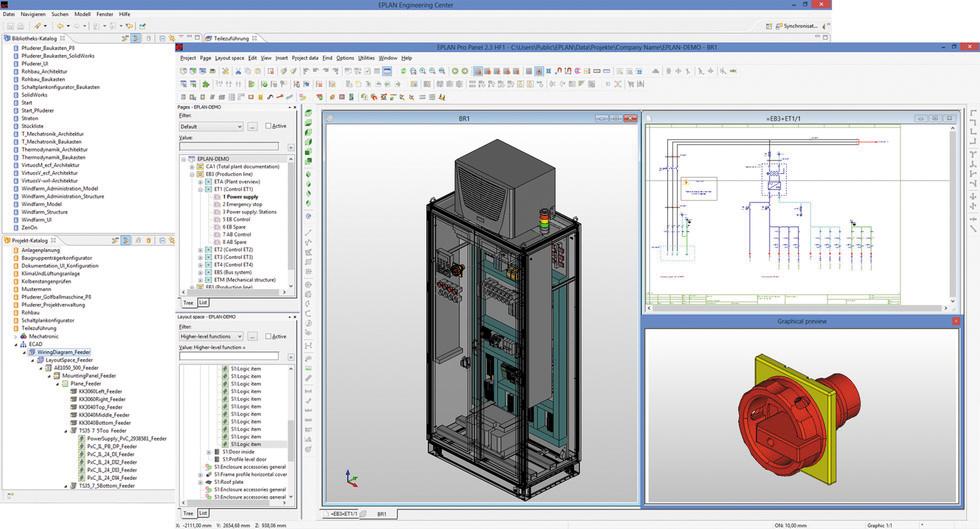 Пример интерфейса Ricad 3D
