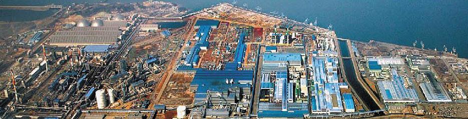 Завод Hyundai Steel, АСУ электрохозяйством которого базируется на SCADA-пакете PcVue (вид сверху)