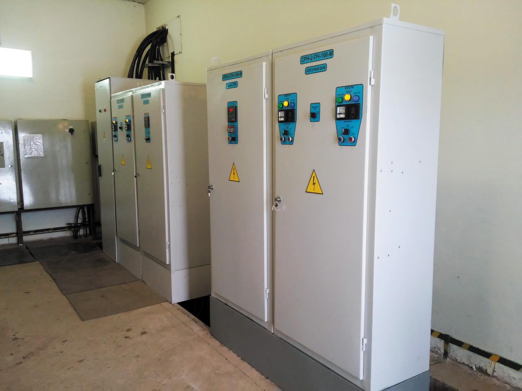 Силовые шкафы станции регулирования насосами