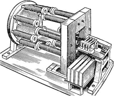 Действующая модель электродвигателя Б. С. Якоби