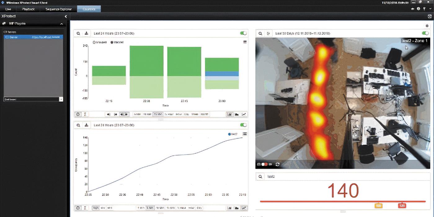 Тепловая карта помещения в приложении Milestone Xprotect Smart Client