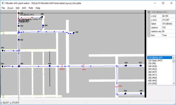 Интерфейс ПО Morello для составления маршрута движения робота