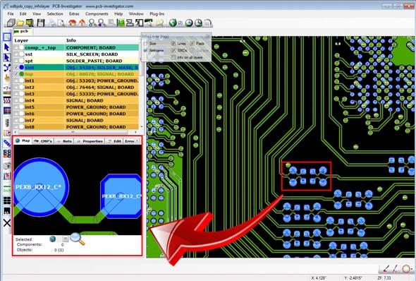 Импортирование  IPC‑2581‑данных в  программу PCB ‑Investigator