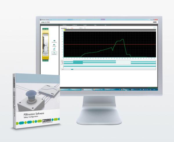 Программное обеспечение PSRmotion позволяет устанавливать параметры состояния останова и превышения скорости