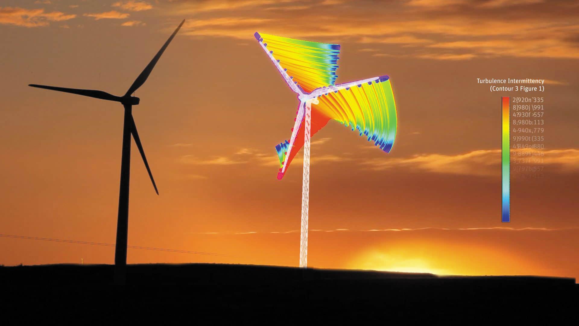 Цифровой двойник ветряной турбины, созданный на основе результатов многовариантных численных расчетов