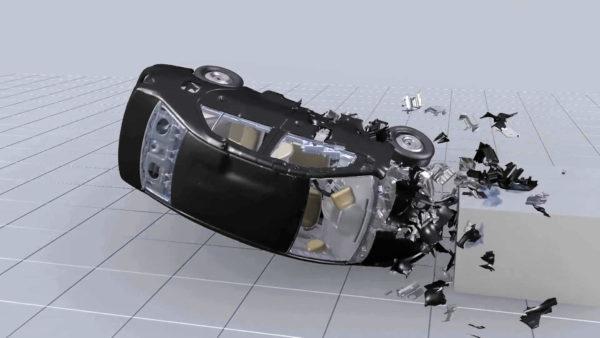 Моделирование удара автомобиля о бетонную преграду в Ansys LS-DYNA