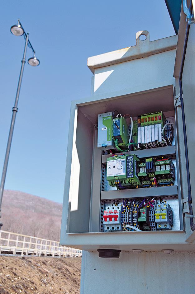 Шкаф управления системой городского освещения во Владивостоке