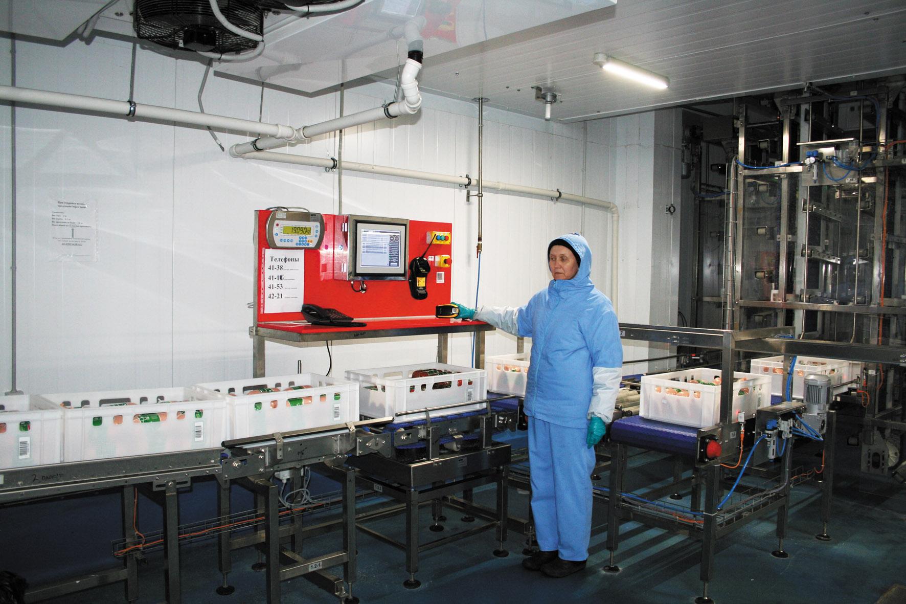 Продукция ООО «Агросила. Челны-МПК» поступает на склад в пластиковых ящиках