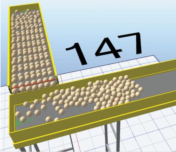 Физическое моделирование замороженных шариков теста позволяет передать ключевые характеристики продукта в модель