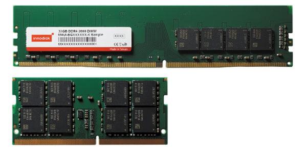Серия модулей флэш-памяти DDR4 2666 32 Гбайт от компании Innodisk