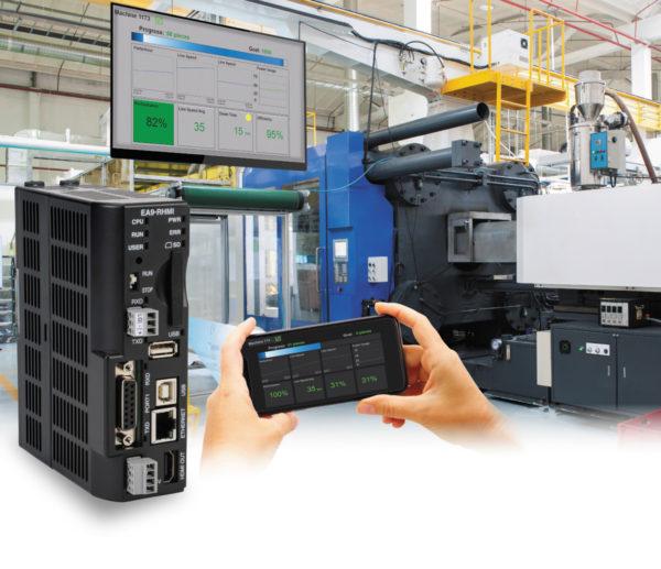 Встраиваемые HMI, такие как C-more компании AutomationDirect, доступны со встроенными дисплеями или без них. Кроме того, они могут управлять широкоформатными дисплеями и поддерживать мобильную связь