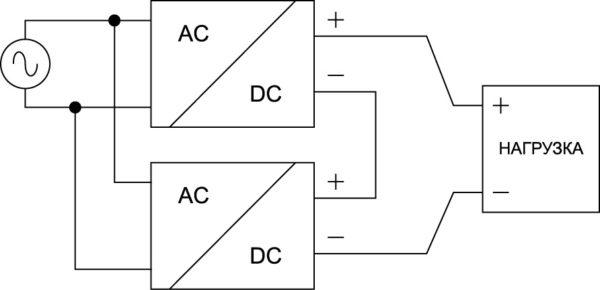 Последовательное подключение конвертеров серии EL