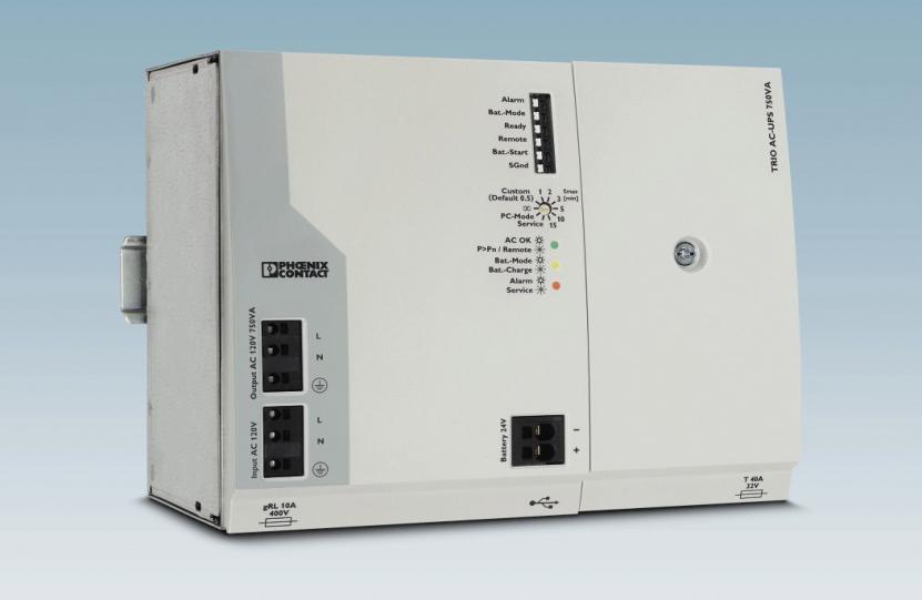 Промышленный ИБП TRIO AC-UPS с AGM-аккумулятором