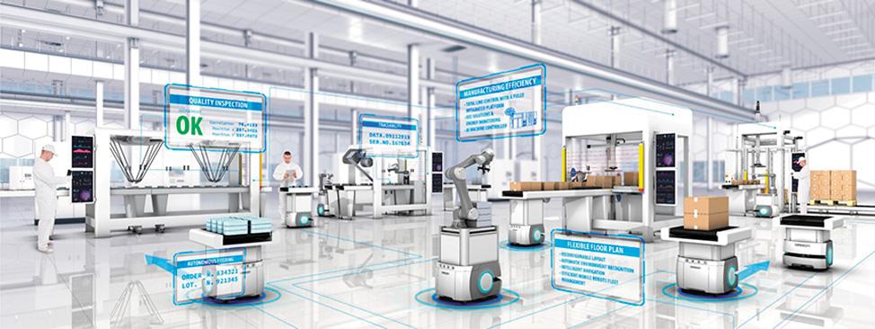 Фабрика будущего для повышения качества, гибкости, эффективности и отслеживаемости использует искусственный интеллект и мобильные манипуляторы