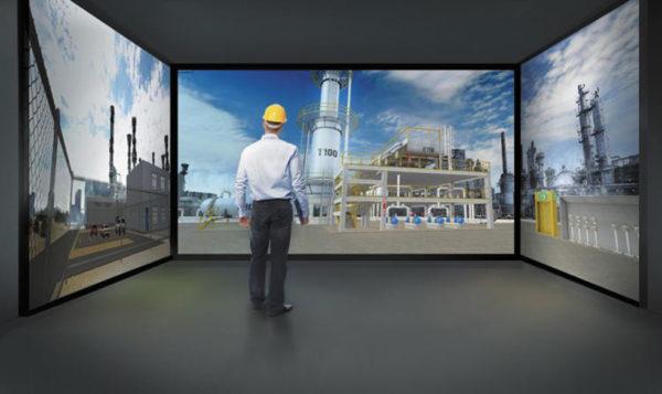 Фотоизображения в высоком разрешении или 3D-модели с эффектом погружения обеспечивают реалистичное представление перерабатывающего завода, а также доступ к оборудованию и динамическим полевым измерениям, связанным с имитационной моделью техпроцесса
