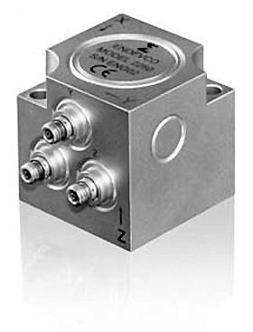 Трехосный высокотемпературный пьезоэлектрический акселерометр