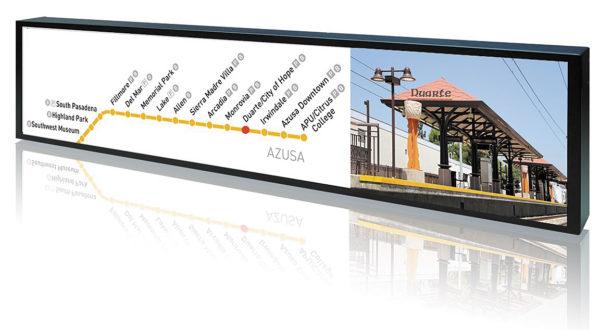 Общественный транспорт — ключевая область применения дисплеев большого удлинения