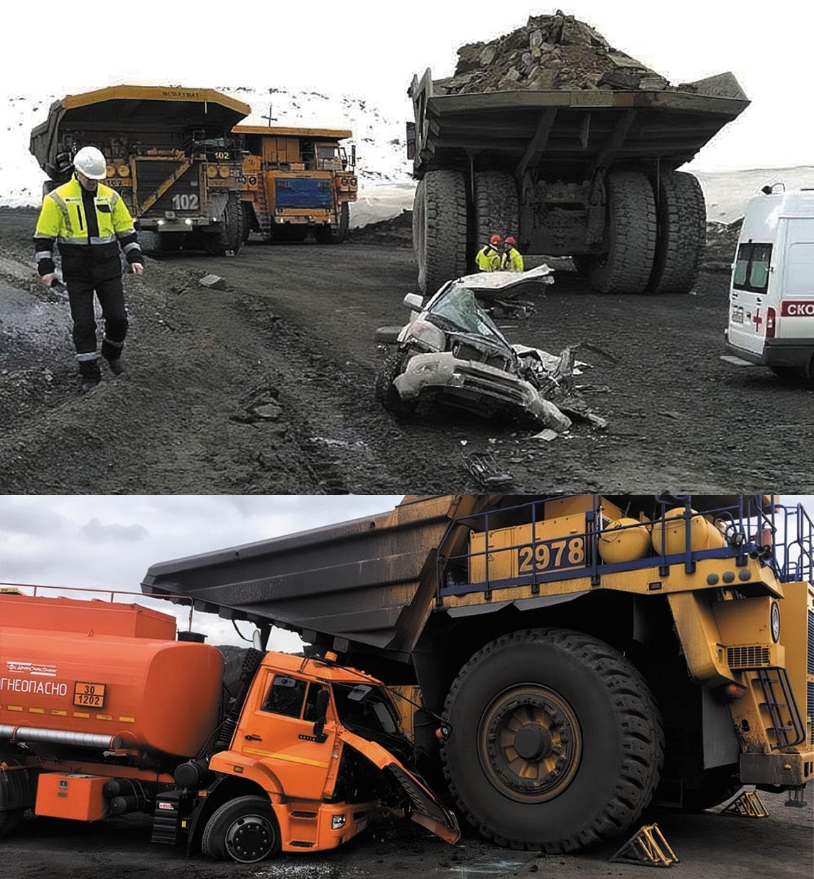 Типичные аварии с техникой, использующейся при ведении открытых горных работ