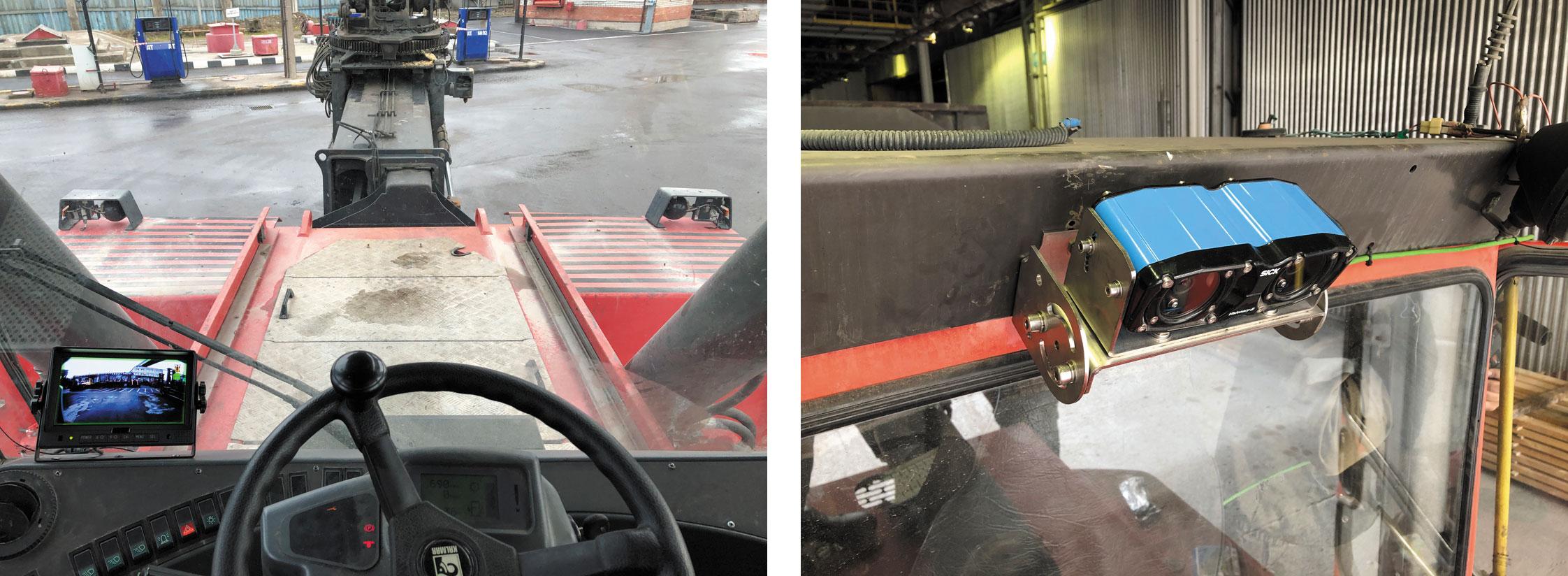 Система Visionary-B на ричстакере предупреждает водителя о возможных столкновениях с неподвижными или движущимися объектами, а также при движении задним ходом или маневрировании в ограниченном пространстве