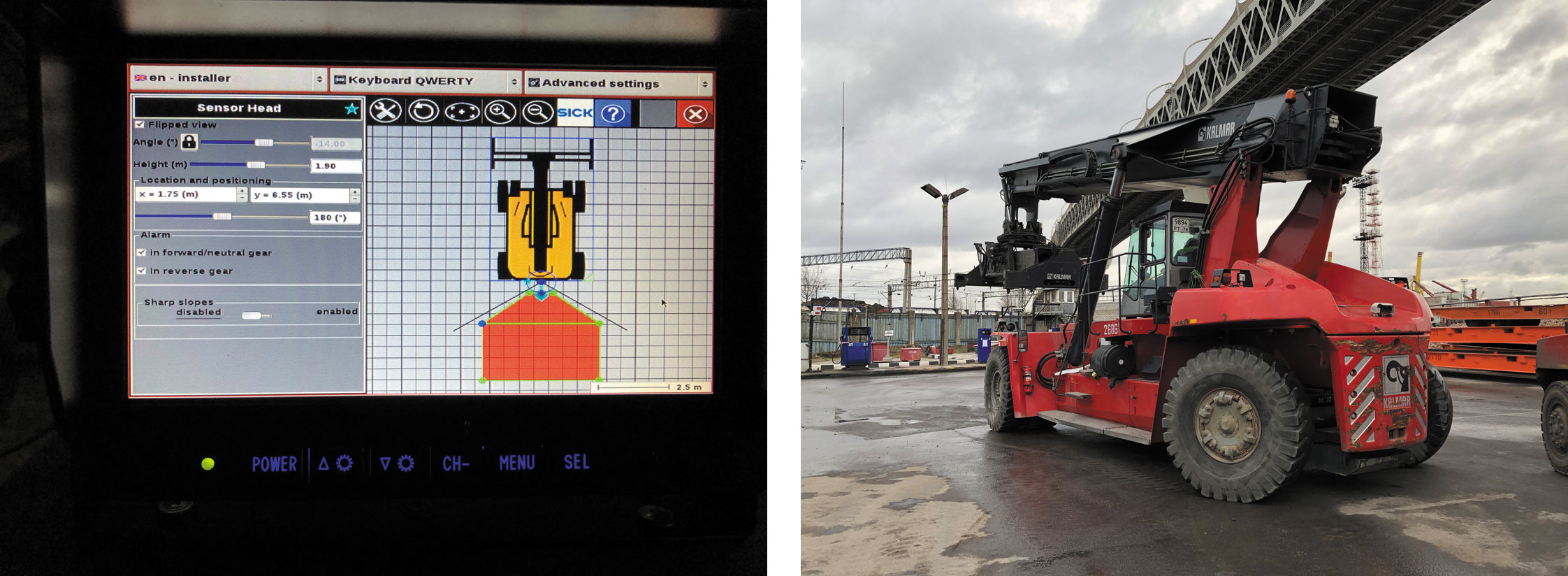 Пример использования Visionary-B в портах