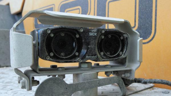 Пример установки системы Visionary-B на колесный погрузчик