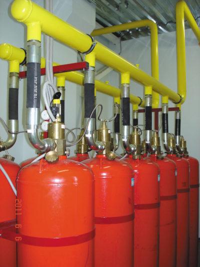 Установка газового пожаротушения на Novec 1230