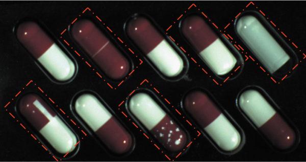 Пример дефектов капсул, подлежащих контролю