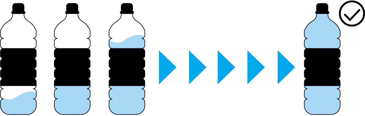 Правильность наполнения бутылок гарантирована детерминированными по времени отправкой и получением данных технологического процесса
