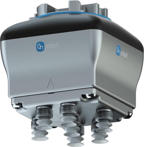 Компактное настраиваемое электрическое вакуумное захватное устройство VGC10 компании OnRobot имеет два независимо управляемых пневматических вакуумных канала, которые действуют как двойной захват с присосками и выпуском одновременно, повышая эффективность и сокращая время цикла. Не требует подачи воздуха от внешнего источника, что обеспечивает снижение расходов на техническое обслуживание и более быстрое развертывание