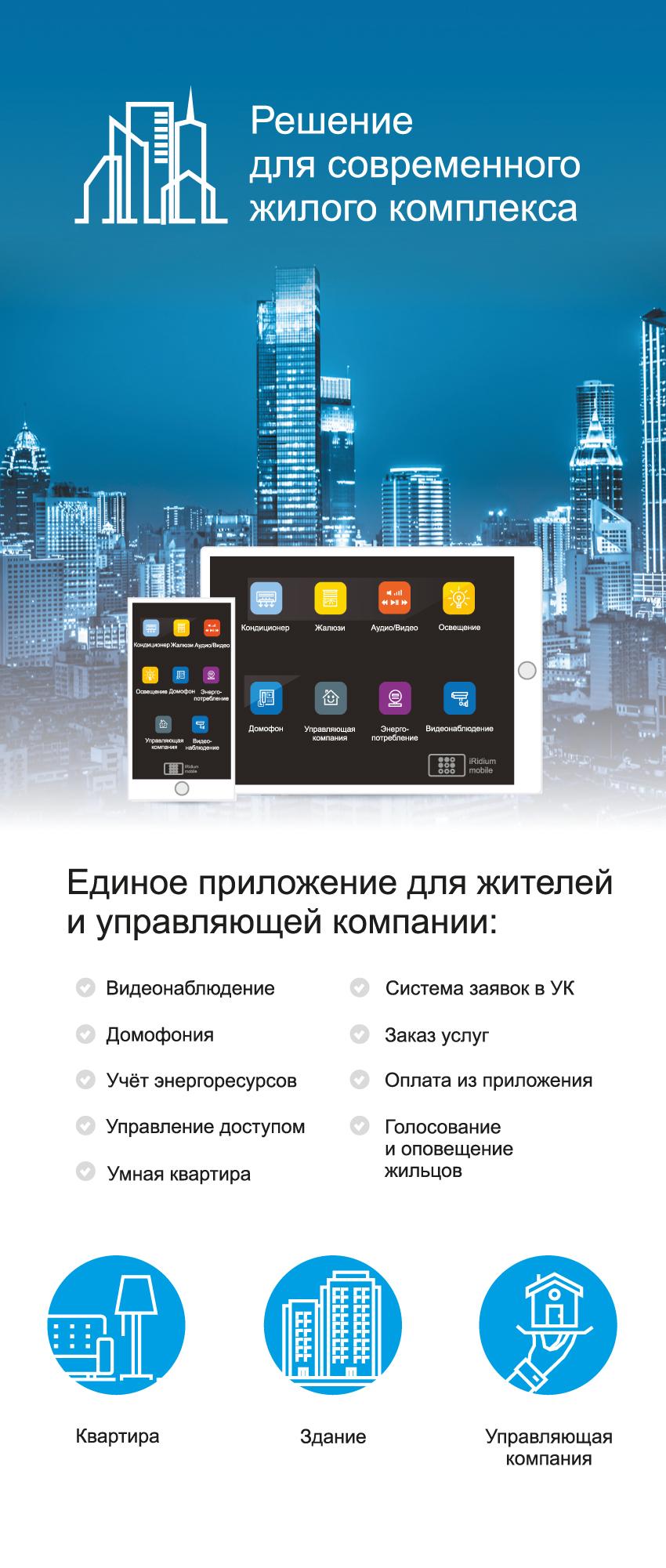 Решение для современного жилого комплекса от компании iRidium mobile