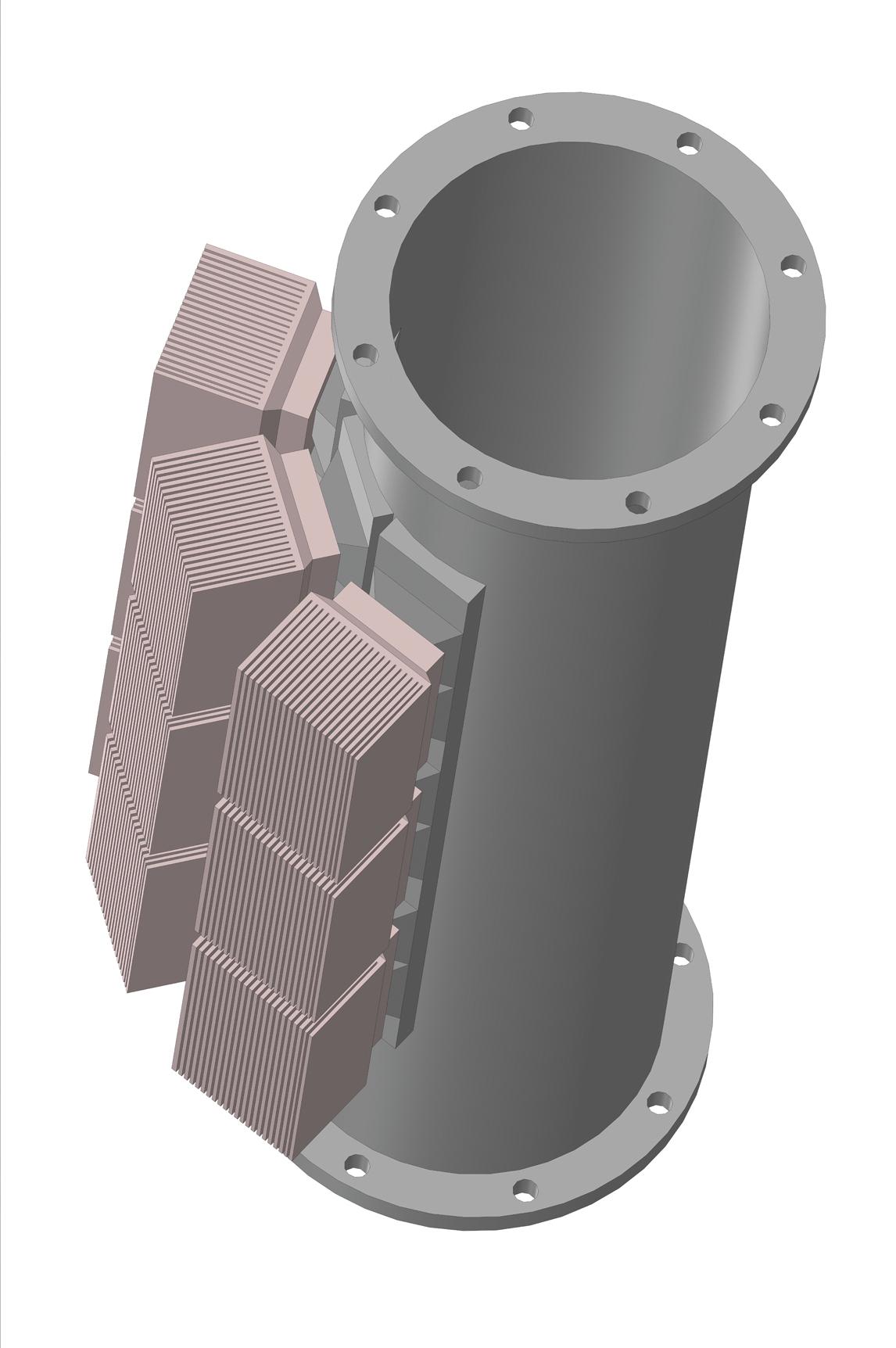 Модель конструкции термоэлектрического генератора для подогревателя газа