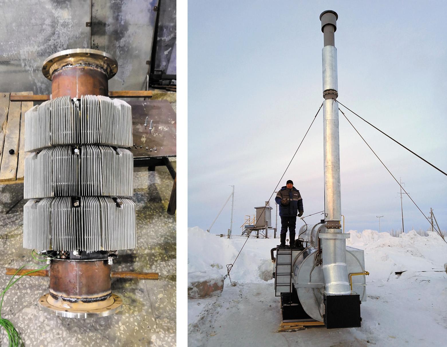 Термоэлектрический генератор в сборе и на подогревателе газа ПГ-10